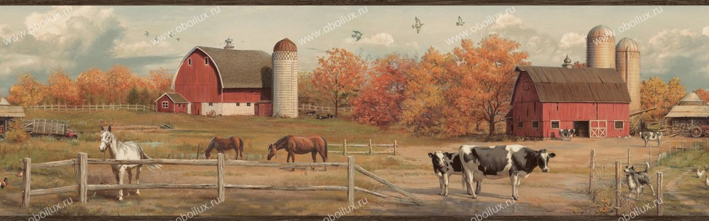 Американские обои Chesapeake,  коллекция Pure Country, артикулPUR48432B