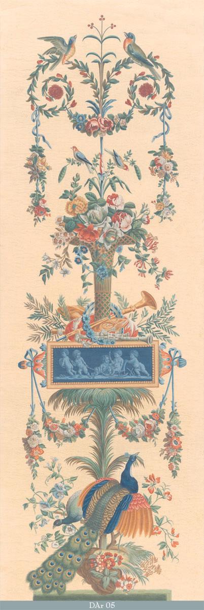 Английские обои Iksel,  коллекция Scenic & Architectural Wallpapers, артикулDirectoireArabesquesDAr05