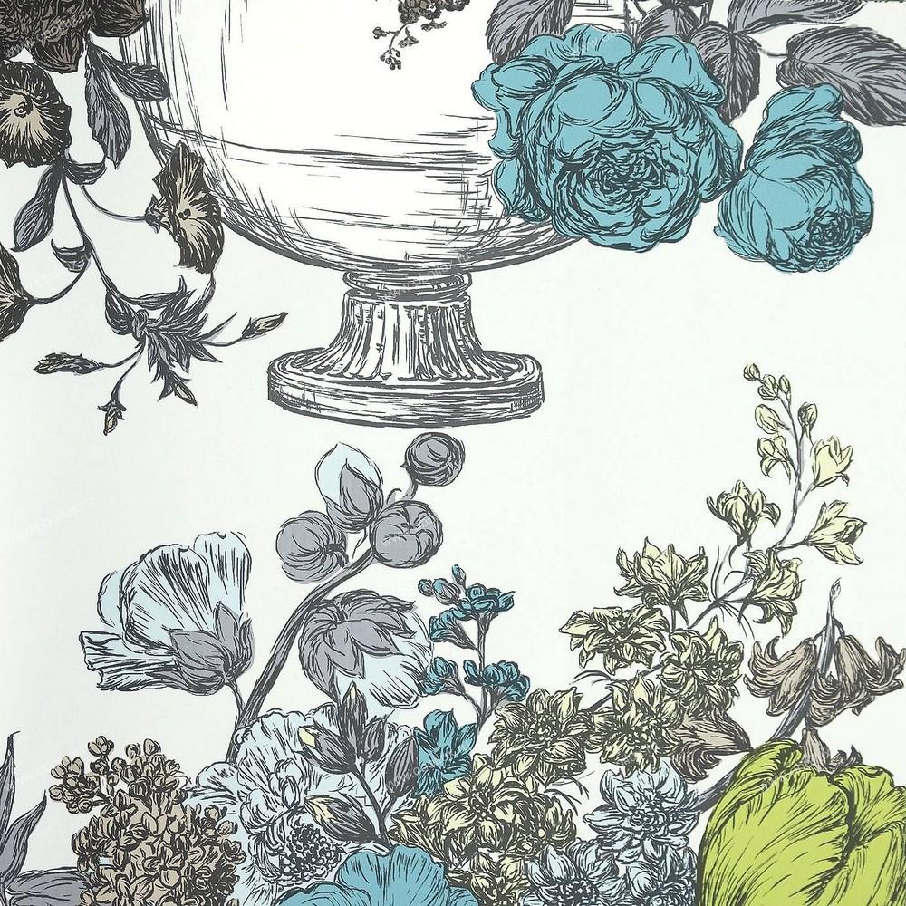 Английские обои Clarke & Clarke,  коллекция Floribunda, артикулW0041-01