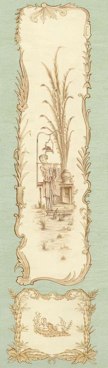 Английские обои Iksel,  коллекция Scenic & Architectural Wallpapers, артикулChinoiserieCHINOIS03