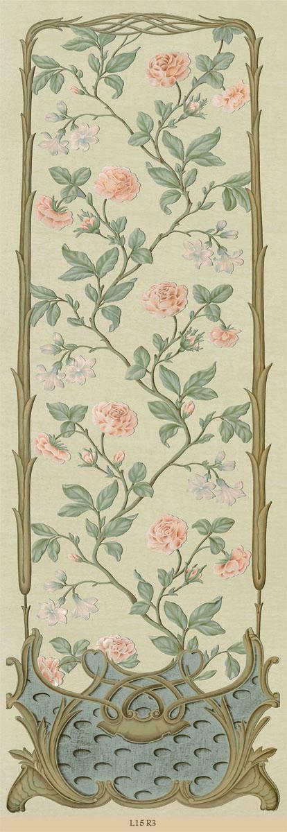 Английские обои Iksel,  коллекция Scenic & Architectural Wallpapers, артикулLouisXVRocailleL15R3