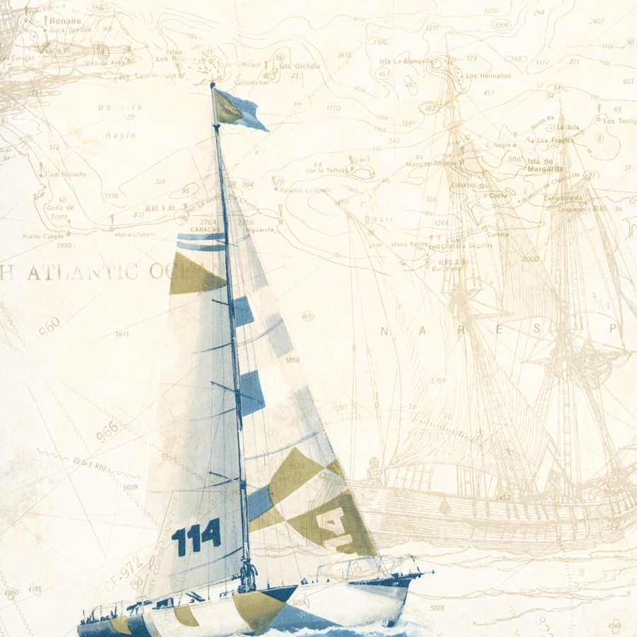 Американские обои Chesapeake,  коллекция Coastal Waters Volume II, артикулCT47502