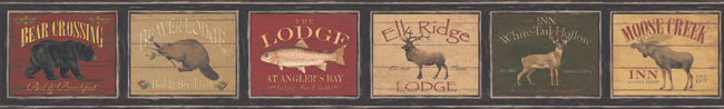Американские обои York,  коллекция Lake Forest Lodge, артикулLM7941BD