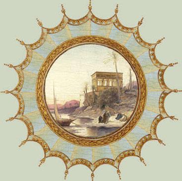 Английские обои Iksel,  коллекция Scenic & Architectural Wallpapers, артикулNeo-ClassicalROUNDMED03