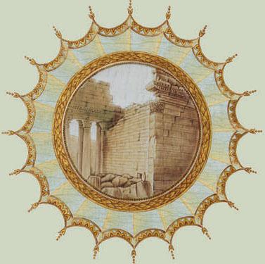 Английские обои Iksel,  коллекция Scenic & Architectural Wallpapers, артикулNeo-ClassicalROUNDMED02