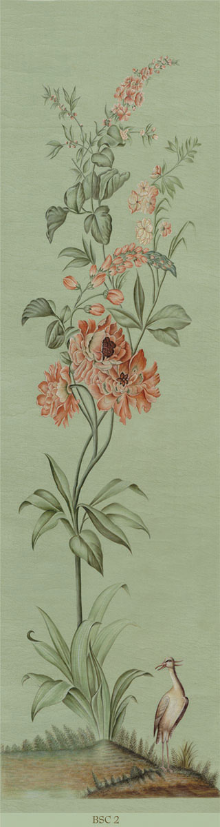 Английские обои Iksel,  коллекция Scenic & Architectural Wallpapers, артикулFloralScreenBSC2