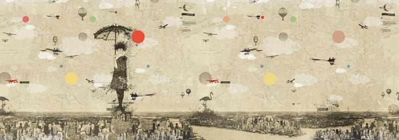 Итальянские обои Wall & deco,  коллекция Life 13, артикулWDSH1302