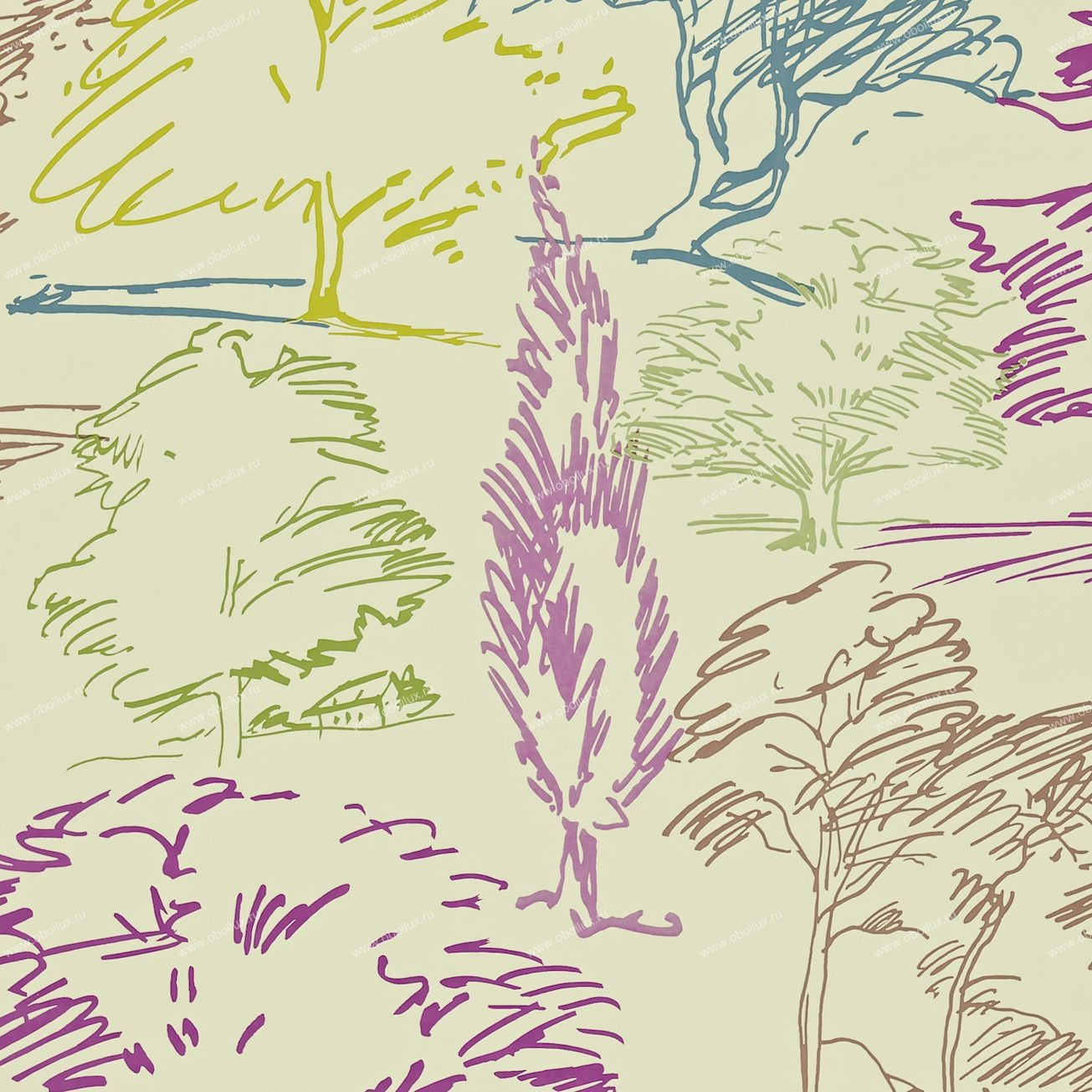 Английские обои Sanderson,  коллекция Colour for Living, артикул211669