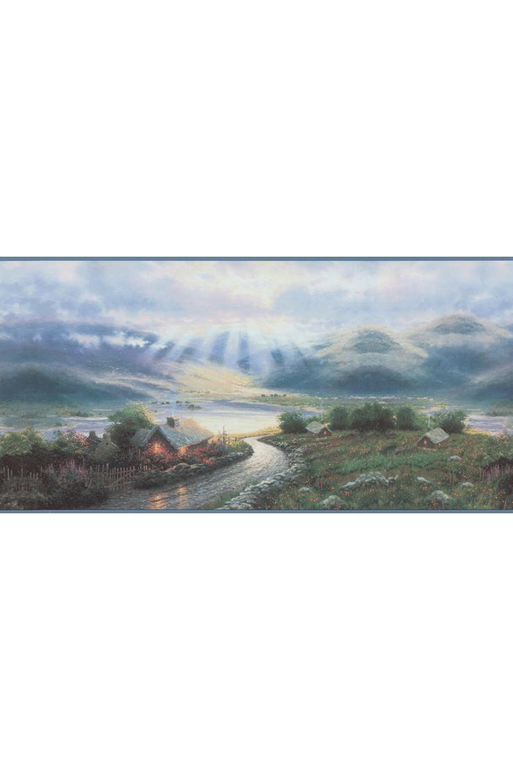 Канадские обои Blue Mountain,  коллекция Borders, артикулBC1583893