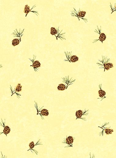 Американские обои Jaima Brown,  коллекция Retreat, артикулPine-Cone-Pale-Yellow
