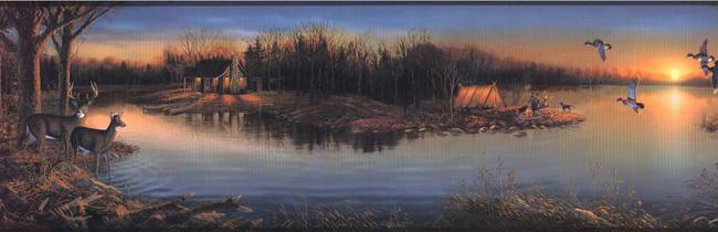 Американские обои York,  коллекция Lake Forest Lodge, артикулWD4174B