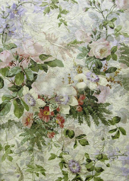 Французские обои Zuber,  коллекция Roses Anciennes, артикулROSES-ANCIENNES-P-08