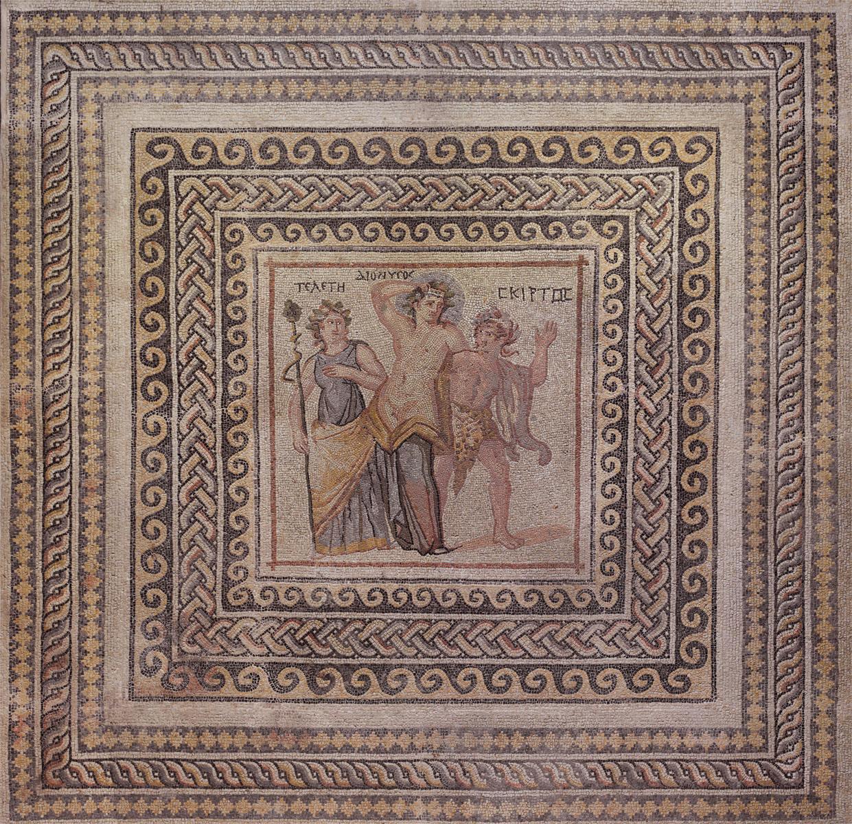 Английские обои Iksel,  коллекция Scenic & Architectural Wallpapers, артикулDionysosMosaic