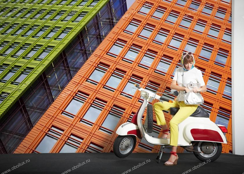 Немецкие обои A. S. Creation,  коллекция XXL II, артикул286SkyscraperGreen&Red