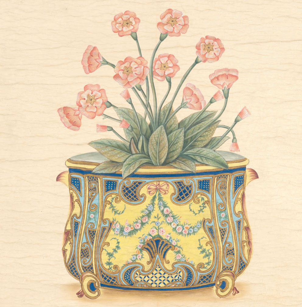 Английские обои Iksel,  коллекция Scenic & Architectural Wallpapers, артикулPottedFlowersPF12