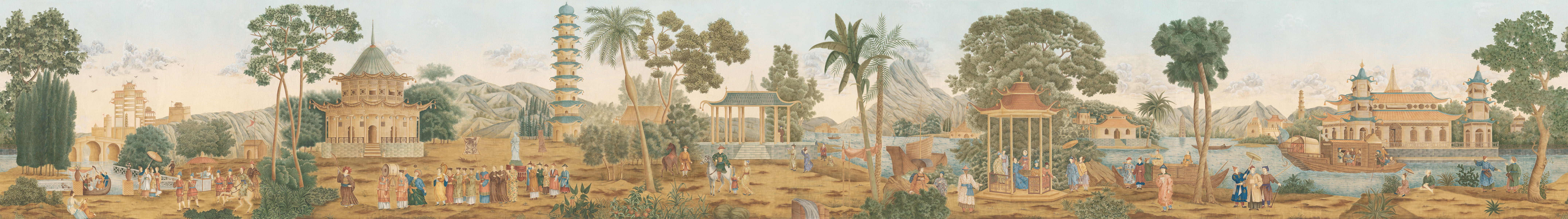 Английские обои Iksel,  коллекция Scenic & Architectural Wallpapers, артикулLaFeteChinoise