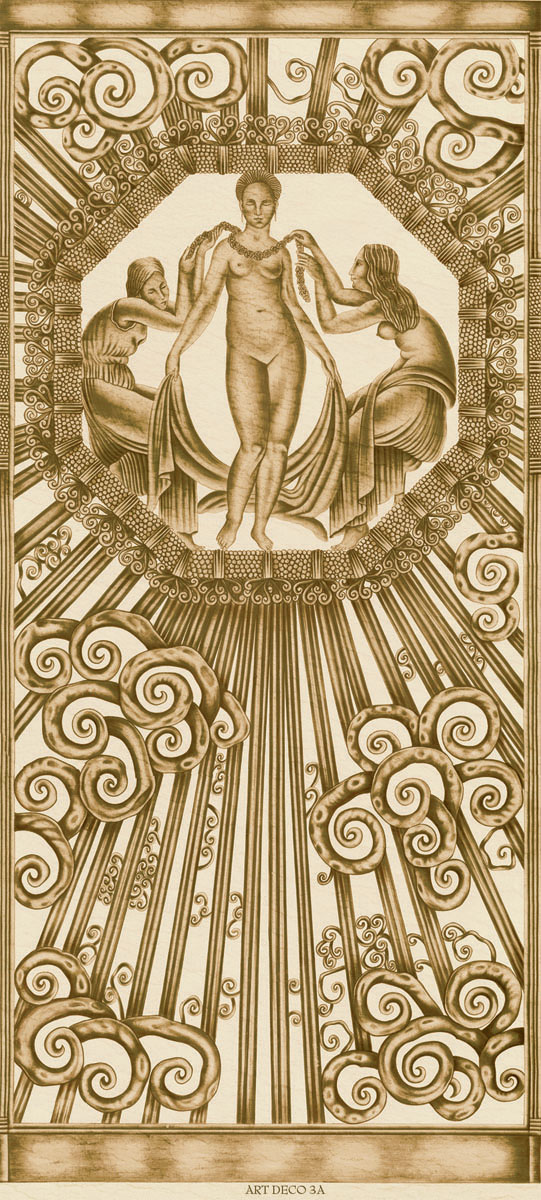 Английские обои Iksel,  коллекция Scenic & Architectural Wallpapers, артикулArtDecoCloudsARTDECO3A