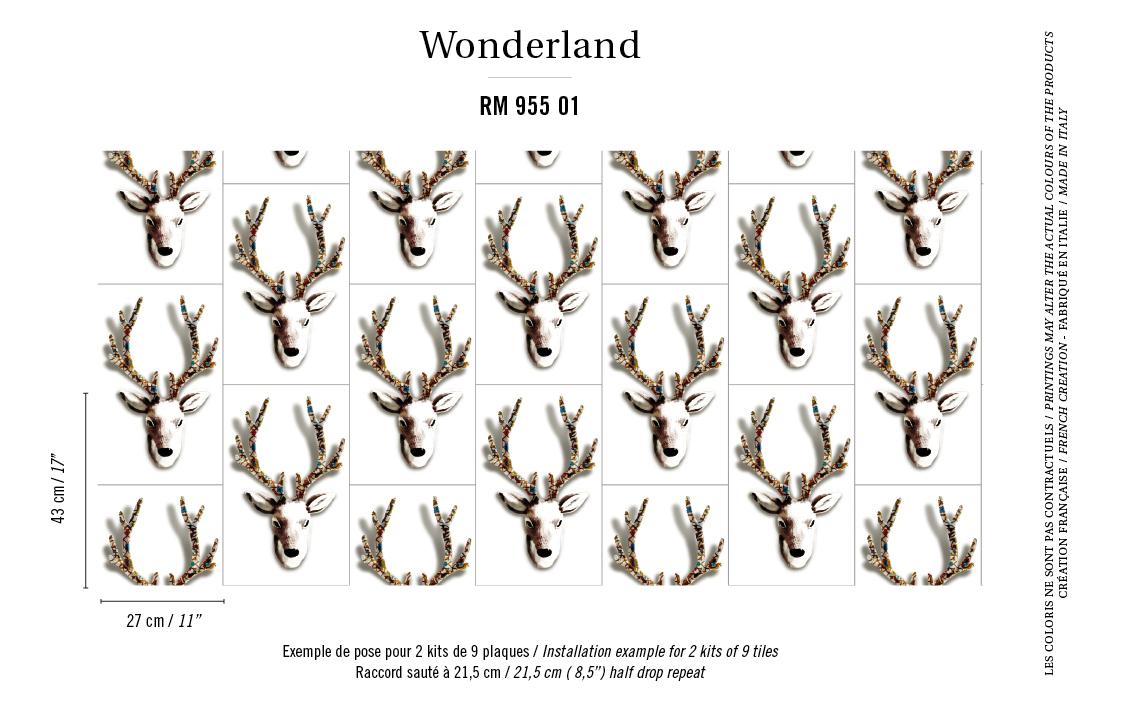Французские обои Elitis,  коллекция Wonderland, артикулRM-955-01