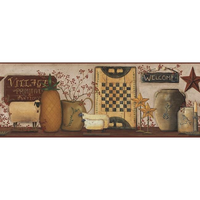 Американские обои York,  коллекция Hearts and Crafts III, артикулCB5509BD