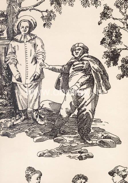 Английские обои Lewis & Wood,  коллекция Damasks & Toiles, артикулLW0937