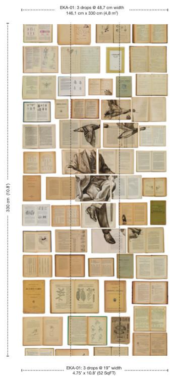 Обои  NLXL,  коллекция Biblioteca, артикулEKA-01