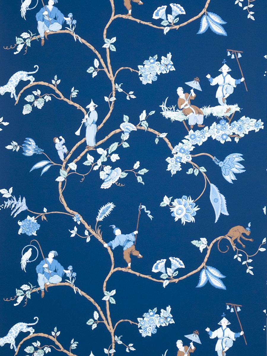 Американские обои Stroheim,  коллекция Blue & White, артикул6023401