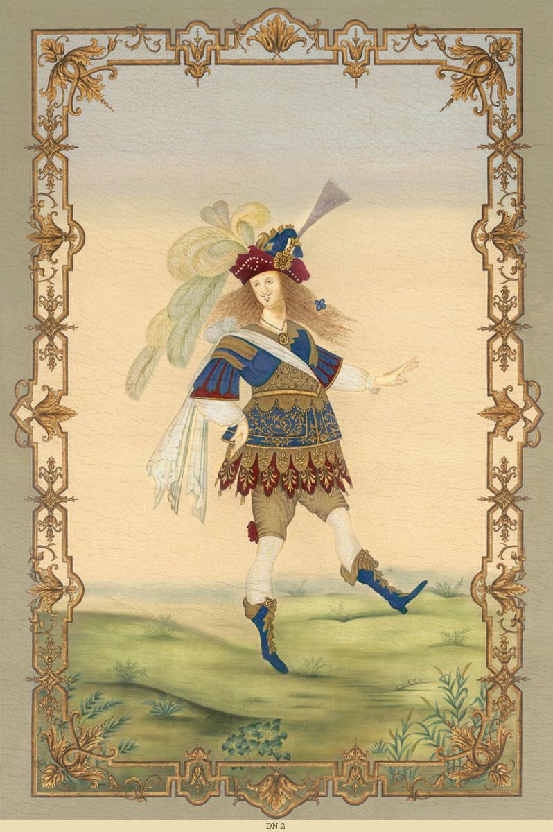 Английские обои Iksel,  коллекция Scenic & Architectural Wallpapers, артикулLouisXIVDancersDN2