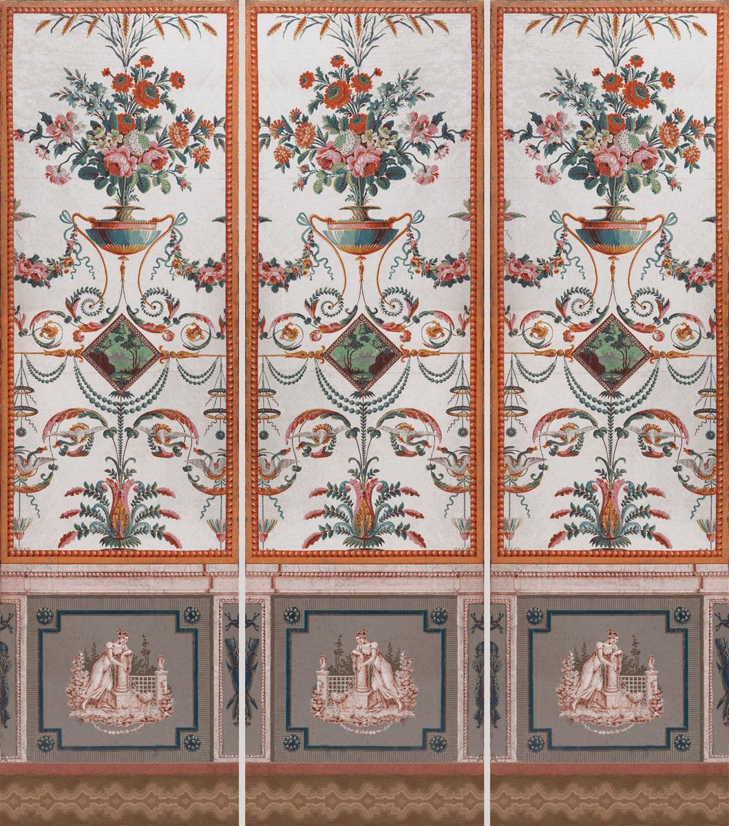 Английские обои Iksel,  коллекция Scenic & Architectural Wallpapers, артикулReveillonArabesques