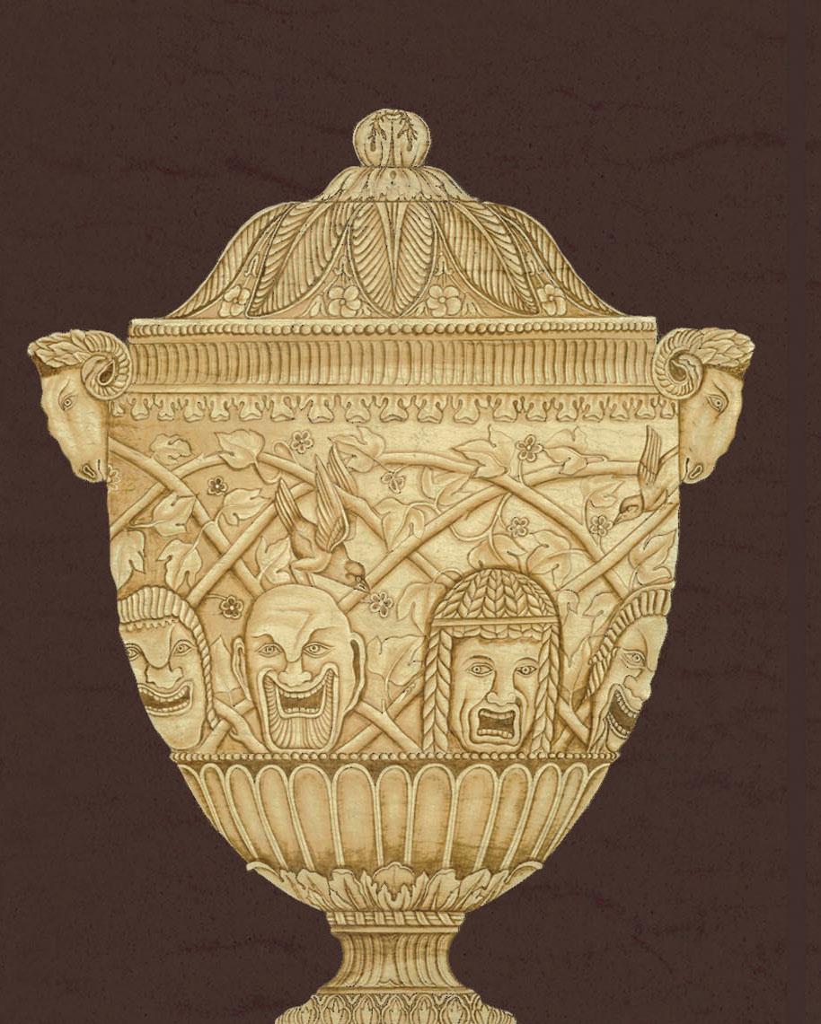 Английские обои Iksel,  коллекция Scenic & Architectural Wallpapers, артикулPiranesiUrnsUR4