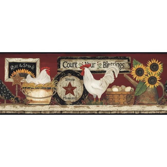 Американские обои York,  коллекция Hearts and Crafts III, артикулCB5538BD