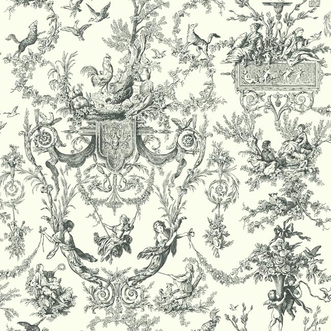 Американские обои York,  коллекция Ashford House - Black and White, артикулAT4237