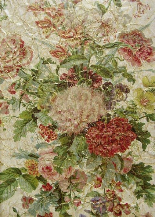 Французские обои Zuber,  коллекция Roses Anciennes, артикулROSES-ANCIENNES-P-09