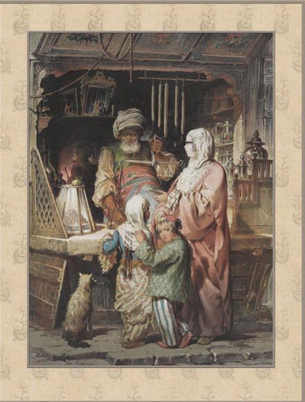 Английские обои Iksel,  коллекция Scenic & Architectural Wallpapers, артикулPreziosi'sConstantinoplePREZ8