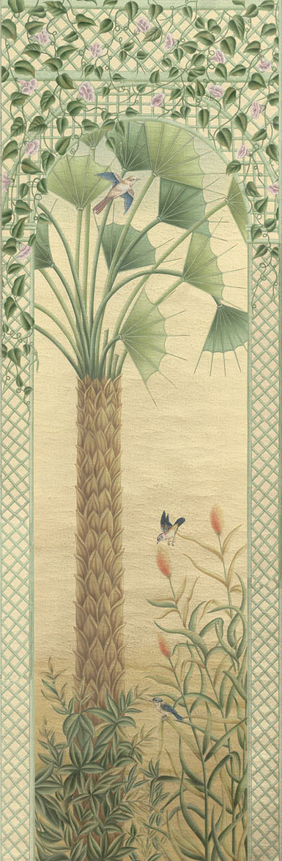 Английские обои Iksel,  коллекция Scenic & Architectural Wallpapers, артикулTreillisExoticaTRLS01