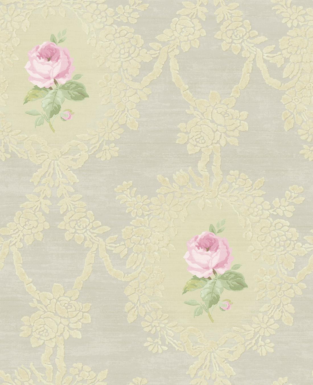 Американские обои Wallquest,  коллекция Watercolor Florals, артикулMF20206
