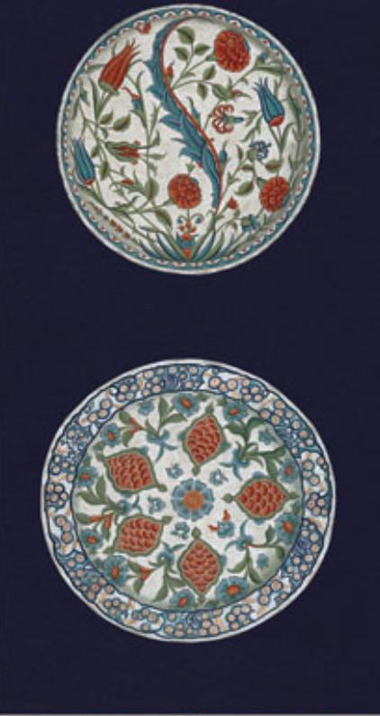 Английские обои Iksel,  коллекция Scenic & Architectural Wallpapers, артикулIznikPlatesIP11