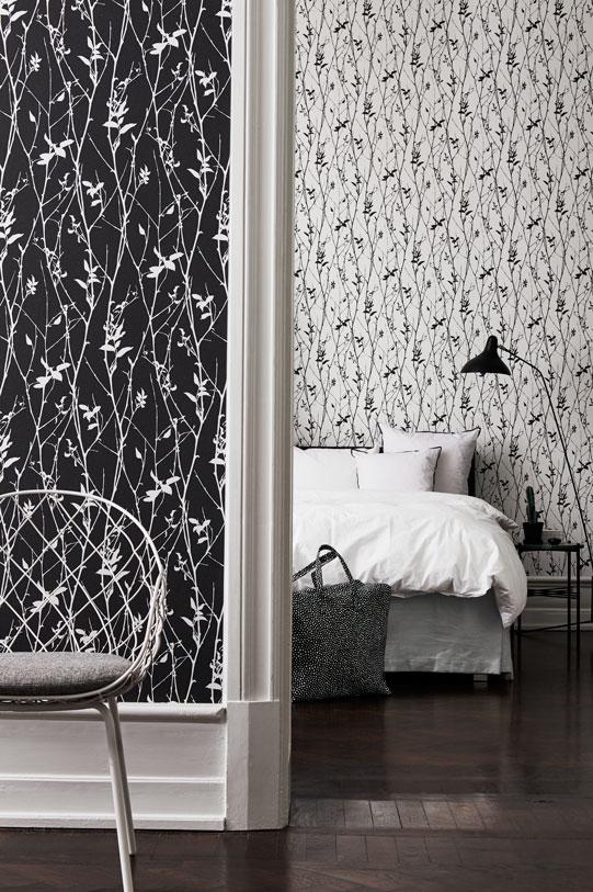 Шведские обои Eco,  коллекция Black and White, артикул6061