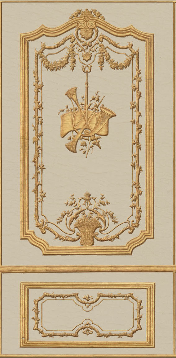 Английские обои Iksel,  коллекция Scenic & Architectural Wallpapers, артикулRegenceBoiserieRB07