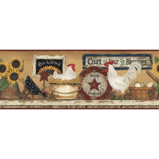 Американские обои York,  коллекция Hearts and Crafts III, артикулCB5539BD