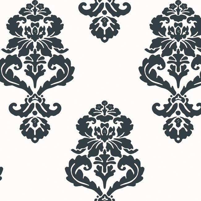 Американские обои York,  коллекция Ashford House - Black and White, артикулBL0396
