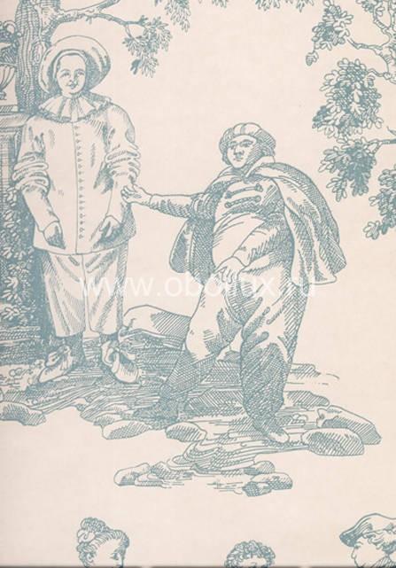 Английские обои Lewis & Wood,  коллекция Damasks & Toiles, артикулLW0912