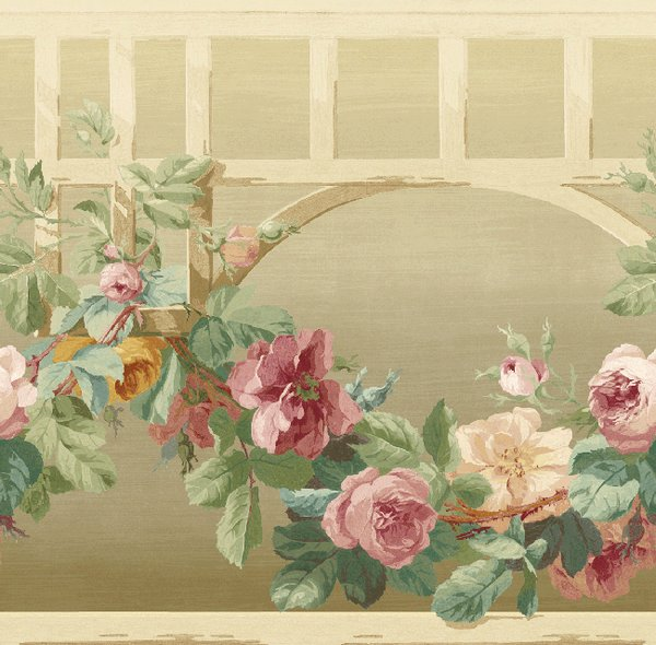 Американские обои Wallquest,  коллекция English Rose, артикулEN11057B