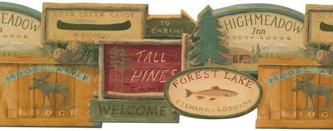 Американские обои York,  коллекция Lake Forest Lodge, артикулWL5569B