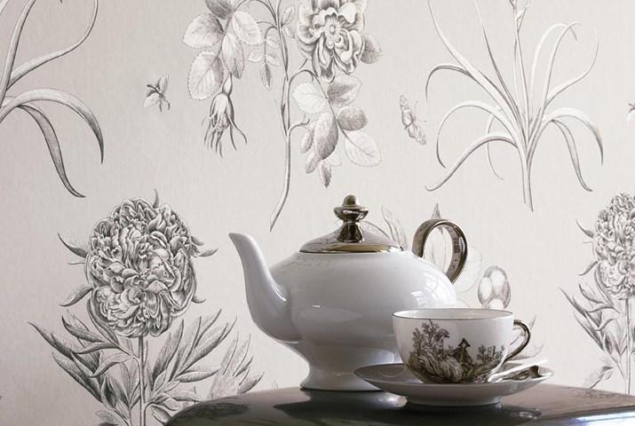 Английские обои Sanderson,  коллекция Parchment Flowers, артикулDPFWER106