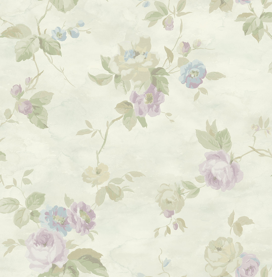 Американские обои Wallquest,  коллекция Watercolor Florals, артикул MF20709