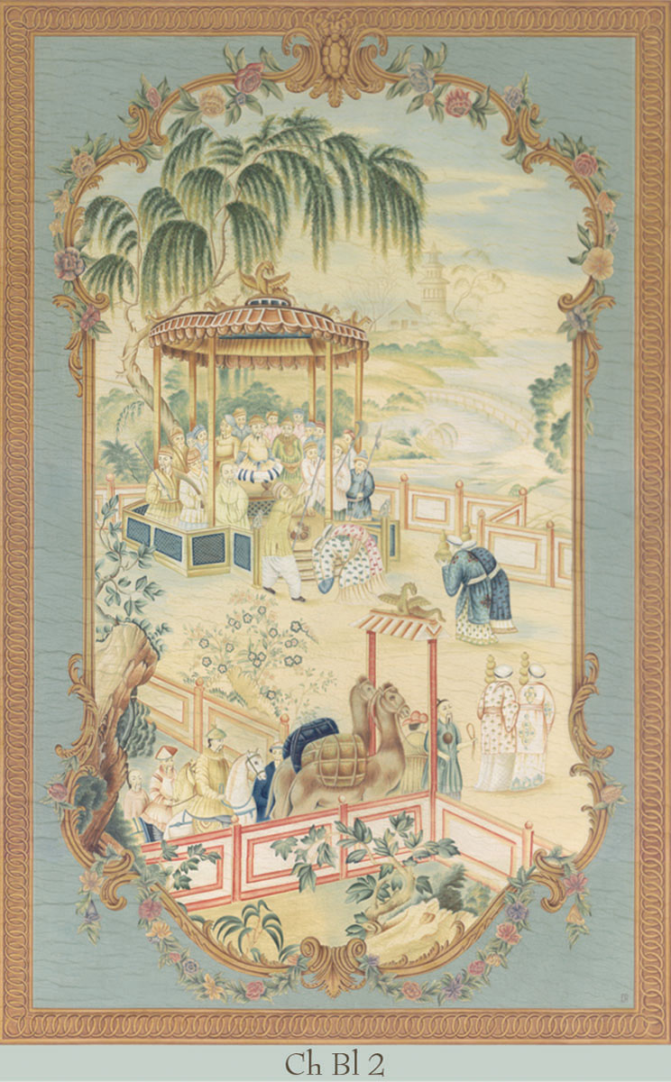 Английские обои Iksel,  коллекция Scenic & Architectural Wallpapers, артикулChinoisBlueCHBL2