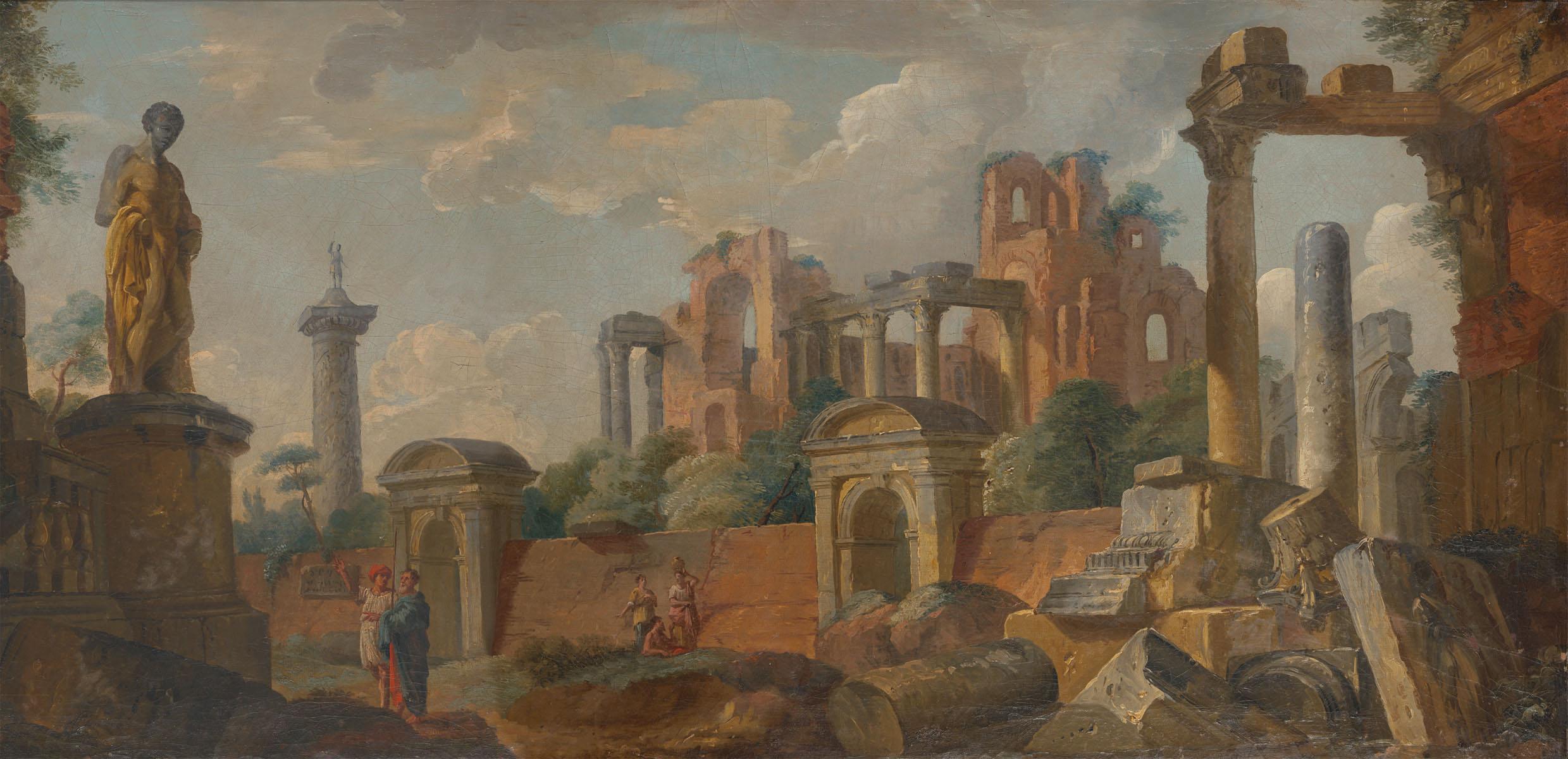Английские обои Iksel,  коллекция Scenic & Architectural Wallpapers, артикулPanini-RomanRuins