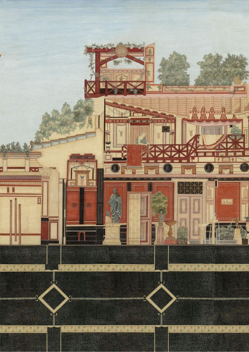 Английские обои Iksel,  коллекция Scenic & Architectural Wallpapers, артикулRomanVillaROMVIL03
