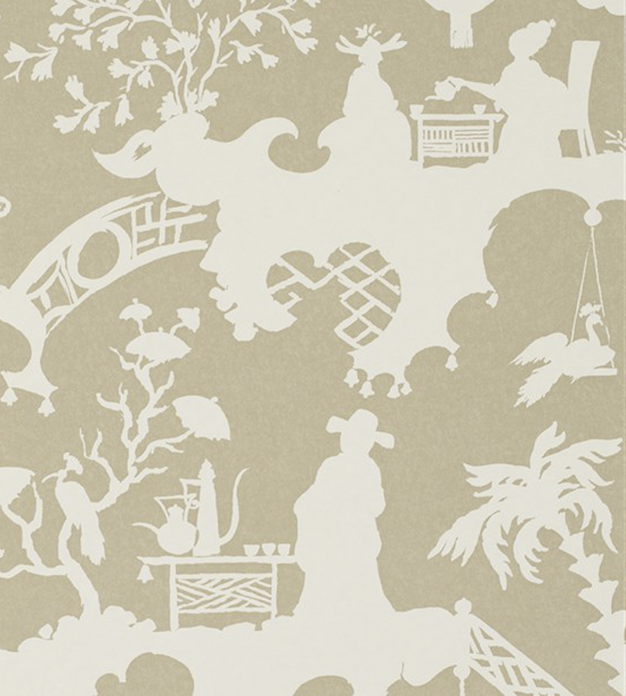 Тайские обои Jim Thompson,  коллекция Pagoda and Palms, артикулWR1010/04