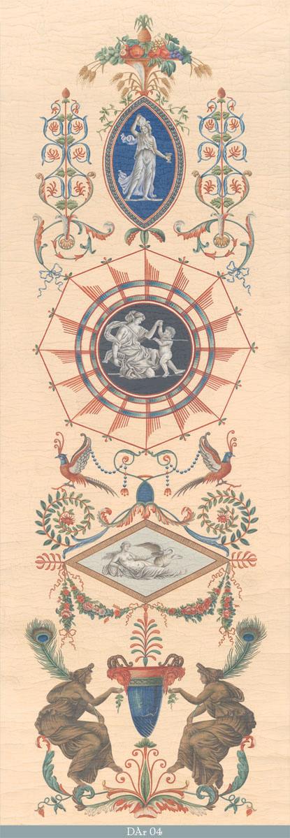 Английские обои Iksel,  коллекция Scenic & Architectural Wallpapers, артикулDirectoireArabesquesDAr04